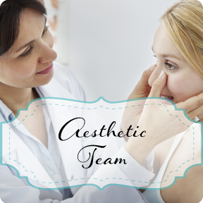 Our Team: image of doctor evaluating patients facial features for cosmetic procedure